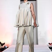 Designer Ilyes Ouali showcases at the London Arabia Art & Fashion Week 2019 at Jumeirah Carlton Tower, on 5 August 2019, London, UK.