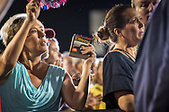 Aug. 21. 2015 Mobile, AL, Trump fans at Republican presidential candidate and business mogul Donald Trump campaign pep rally in Ladd Peebles Stadium.