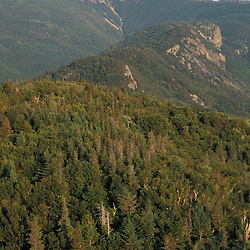 Franconia Notch State Park.  View from Bald Mountain of Mount Lafayette and Eagle Cliff. Franconia Ridge. Franconia, NH
