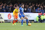 Jon Meades of AFC Wimbledon in action during the Sky Bet League 2 match between AFC Wimbledon and Wycombe Wanderers at the Cherry Red Records Stadium, Kingston, England on 21 November 2015. Photo by Stuart Butcher.