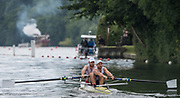 Henley-on-Thames. United Kingdom.  <br /> Silver Goblets and Nickalls' Challenge Cup. Mercantile RC and Melbourne University. AUS AUS M2-. Bow. Joshua DUNKLEY-SMITH and J. BOOTH<br />  <br /> 2017 Henley Royal Regatta, Henley Reach, River Thames. <br /> <br /> 12:11:00  Saturday  01/07/2017   <br /> <br /> [Mandatory Credit. Peter SPURRIER/Intersport Images.