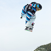 Canadian National Snowboard Team member Brad Martin gets some big air during a training run before the start of finals at the 2009 LG Snowboard FIS World Cup at Cypress Mountain, British Columbia, on February 16th, 2009. Martin finished 7th in the field of 70.