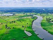 Nederland, Gelderland, Gemeente Gorssel, 21–06-2020; rivier de IJssel ten zuiden van Deventer, De Ravenswaarden ten Westen van Gorssel. Inn het verlengde van de uiterwaard een zandgat. Op de rechter oever de Wilpsche Klei.<br /> River IJssel south of Deventer, De Ravenswaarden west of Gorssel. On the right bank of the Wilpse Klei.<br /> <br /> luchtfoto (toeslag op standaard tarieven);<br /> aerial photo (additional fee required)<br /> copyright © 2020 foto/photo Siebe Swart
