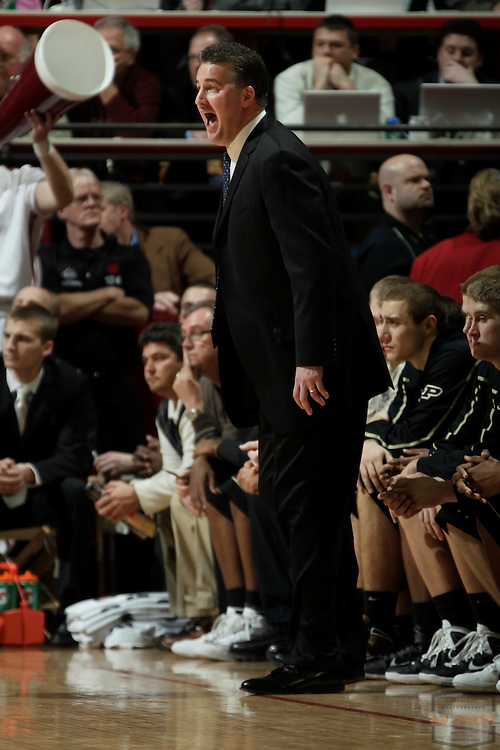 23 February 2011: Purdue coach Matt Painter as the Indiana Hoosiers played the Purdue Boilermakers in a college basketball game in Bloomington, Ind.