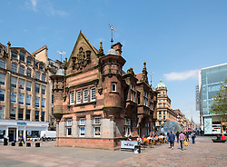 Former underground station office and entrance at  St Enoch Square in Glasgow, Scotland, United Kingdom