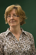 Booker prize-winning British author Pat Barker, pictured at the Edinburgh International Book Festival where she talked about her Regeneration trilogy. The Book Festival was the World's largest literary event and featured writers from around the world. The 2007 event featured around 550 writers and ran from 11-27 August.