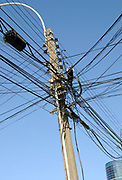 Electric and telephone cables.  Punta Arenas, Chile. 15Feb13