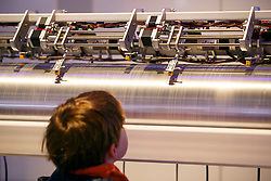 © Licensed to London News Pictures. 14/02/2017. London, UK. 'Machine 9', an electromechanical sound instrument that transforms the movement of 27,000 pieces of space junk into sound, in real time is shown to the members of public for the first time at Science Museum in London on 14 February 2017. Part of the Adrift project, Machine 9 reveals the extent of space debris and matches with everyday objects. Photo credit: Tolga Akmen/LNP