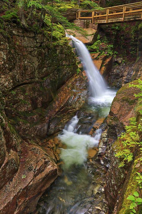 New England waterfalls pictures of Sabbaday Falls in the White Mountain National Forest of New Hampshire.<br /> <br /> Visit New Hampshire White Mountain National Forest waterfall photography artworks are available as museum quality photography prints, canvas prints, acrylic prints, wood prints or metal prints. Fine art prints may be framed and matted to the individual liking and interior design decorating needs.<br /> <br /> Good light and happy photo making!<br /> <br /> My best,<br /> <br /> Juergen