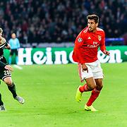 NLD/Amsterdam/20181023 - Champions Leaguewedstrijd  Ajax - SL Benfica, nr.8 Gabriel en nr.20 Lasse Schöne