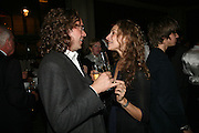 Jamie Byng and Elizabeth Sheinkman , A A Gill party to celebrate the  publication of Table Talk, a collection of his reviews. Hosted by Marco Pierre White at <br />Luciano, 72 St James's Street, London,. 22 October 2007, -DO NOT ARCHIVE-© Copyright Photograph by Dafydd Jones. 248 Clapham Rd. London SW9 0PZ. Tel 0207 820 0771. www.dafjones.com.