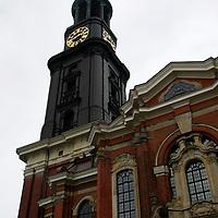 Europe, Germany, Hamburg. Hauptkirche St Michaelis, or St. Michael's Church in Hamburg.