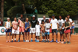 May 25, 2018 - Paris, France - Rafael Nadal (ESP) / Eric Babolat / Carlos Moya et enfants - Decima Babolat (Credit Image: © Panoramic via ZUMA Press)