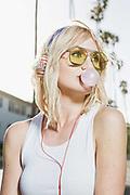 Lifestyle and Fashion photographer Raymond Rudolph photographs model Jenna Blake in a retro style rollerskate photoshoot