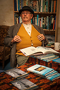 Polar historian David Harrowfield, The Duke,  signs his books, Explorers and adventurers Victorian festival , Heritage quarter, Oamaru, Otago