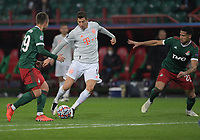 MOSCOW, RUSSIA - OCTOBER 27: Robert Lewandowski of FC Bayern Muenchen during the UEFA Champions League Group A stage match between Lokomotiv Moskva and FC Bayern Muenchen at RZD Arena on October 27, 2020 in Moscow, Russia. (Photo by MB Media)