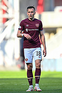 Aaron McEneff (#18) of Heart of Midlothian FC during the SPFL Championship match between Heart of Midlothian and Inverness CT at Tynecastle Park, Edinburgh Scotland on 24 April 2021.