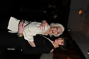 CARMEN DELL'OREFICE; ERIN O'CONNOR, London College of Fashion hosts party to celebrate the opening of Carmen: A Life in Fashion with guest of honour Carmen Dell'Orefice. Il Bottachio, Hyde Park Corner. London. 16 November 2011. <br /> <br />  , -DO NOT ARCHIVE-© Copyright Photograph by Dafydd Jones. 248 Clapham Rd. London SW9 0PZ. Tel 0207 820 0771. www.dafjones.com.