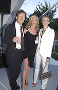 David Hare, Joely richardson and Saffron Aldridge. Serpentine Gallery Summer party in a glass and steel pavilion designed by Toyo Ito and Arup. . tuesday 9 July 2002. © Copyright Photograph by Dafydd Jones 66 Stockwell Park Rd. London SW9 0DA Tel 020 7733 0108 www.dafjones.com
