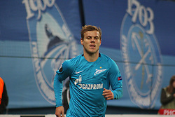 September 28, 2017 - Saint-Petersburg - Of The Russian Federation. Saint-Petersburg. Zenit-arena. Arena Saint-Petersburg. Match Of The UEFA Europa League. Zenit beat real Sociedad with the score 3:1 in the match of UEFA Europa League. Player Alexander Kokorin; (Credit Image: © Russian Look via ZUMA Wire)