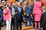 Koninginnedag 2011 in de Limburgse plaats Weert // Queen's Day 2011 in the southern of Holland ( Limburg). The Royal family is visiting the city of Weert.<br /> <br /> Op de foto / On the photo: Prinses Laurentien en Prins Constantijn en Mr. Pieter van Vollenhoven