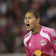 Goalkeeper, Luis Robles, New York Red Bulls, in action during the New York Red Bulls Vs Toronto FC, Major League Soccer regular season match at Red Bull Arena, Harrison, New Jersey. USA. 11th October 2014. Photo Tim Clayton