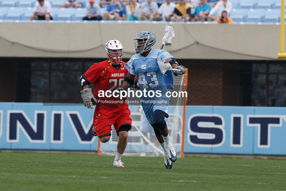 CHAPEL HILL, NC - MARCH 22: Mark McNeill #43 of the North Carolina Tar Heels during a game against the Maryland Terrapins on March 22, 2014 at Kenan Stadium in Chapel Hill, North Carolina. North Carolina won 11-8. (Photo by Peyton Williams/Inside Lacrosse)