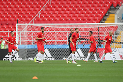 June 22, 2018 - Moscow, RUSSIA - Tunesia's players pictured during a training session of Tunisian national soccer team in the Spartak stadium, in Moscow, Russia, Friday 22 June 2018. The team is preparing for their second game against Belgium tomorrow at the FIFA World Cup 2018. BELGA PHOTO BRUNO FAHY (Credit Image: © Bruno Fahy/Belga via ZUMA Press)