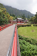 Walkway to the Byodo-In Temple in Kaneohe.