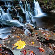 Waterfall during autumn in Pennsylvania