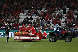 November 7, 2018 - Lisbon, Portugal - Jonas of Benfica leaves the pitch injured  during Champions League 2018/19 match between SL Benfica vs Ajax Amsterdam, in Lisbon, on November 7, 2018. (Credit Image: © Carlos Palma/NurPhoto via ZUMA Press)