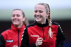 Jemma Purfield of Bristol City Women prior to kick off - Mandatory by-line: Ryan Hiscott/JMP - 13/12/2020 - FOOTBALL - Twerton Park - Bath, England - Bristol City Women v West Ham United Women - Barclays FA Women's Super League