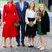 NLD/Groningen/20180427 - Koningsdag Groningen 2018,  Koningin Maxima, Koning Willem Alexander, Prinses Alexia, Prinses Ariane