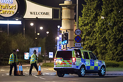 © Licensed to London News Pictures . 10/05/2016 . Manchester , UK . Police forces in the North West of England stage a major terrorist incident at the Trafford Centre Shopping Centre in Manchester . Police , fire , ambulance and emergency response services from Merseyside and Manchester take part . Photo credit: Joel Goodman/LNP