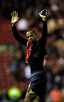 Photo: Jed Wee.<br /> Middlesborough v Arsenal. The Barclays Premiership. 03/02/2007.<br /> <br /> Arsenal's Thierry Henry acknowledges the travelling fans as he salvages a draw for his team.