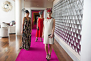 Catwalk models  Tirna Slevin, Kelly McGrath,  Gayle Kelly,  in the g hotel for the launch of The Galway Races 2016 Summer Festival which runs from the 25th of July to the 31st of July in Galway City. Photo: Andrew Downes :