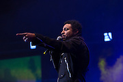 Reggae artist Shaggy performing at The Biolife Sounds of Reggae at Brooklyn's Barclays Center.
