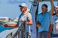 Larry Ellison, Challengers Oracle Team USA skippered by Jimmy Spithill during the 35th America's Cup 2017, Day 4, on June 25, 2017 in Hamilton, Bermuda - Photo Christophe Favreau / ProSportsImages / DPPI