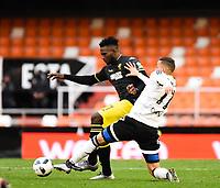 Valencia's Rodrigo and Granada CF's Success during Spanish King's Cup match. January 6, 2016. (ALTERPHOTOS/Javier Comos)