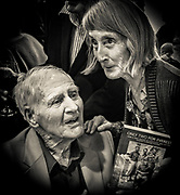 New Zealand mountaineer Ed Cotter with Lyn Mckinnon, author of Only Two for Everest biogrpahy of Ed Cotter & Earl Riddiford 2016