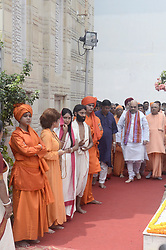 September 11, 2017 - Kolkata, West Bengal, India - Bharatiya Janta Party entered President Amit Shah Swami Vivekanada's ancestral in Kolkata. Bharatiya Janta Party President Amit Shah visits Swami Vivekanada's ancestral house on the occasion 125th anniversary of Swami Vivekanada's Chicago speech on September 11, 2017 in Kolkata. (Credit Image: © Saikat Paul/Pacific Press via ZUMA Wire)