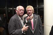Lord Montagu. Gumball 3000. Pre-race  dinner hosted by Armani and Maximillion. Ubon, Canary Wharf. London. 23 April 2001.