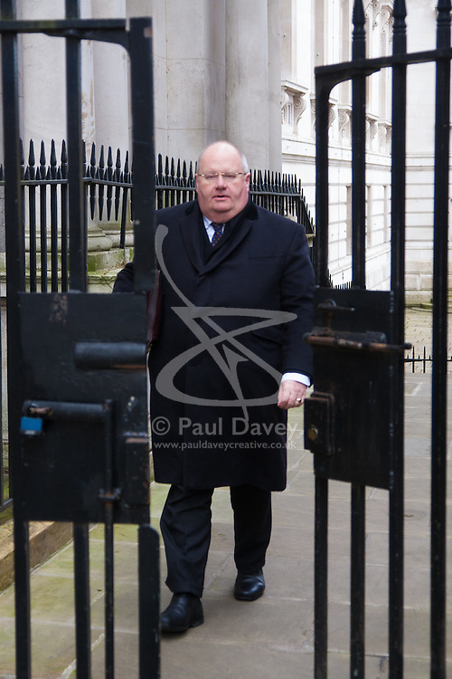London, March 24th 2015. Members of the Cabinet gather at Downing street for their weekly meeting. PICTURED: CXommunities Secretary, Eric Pickles