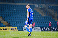 Gillingham FC defender Robbie Cundy (25) on his debut after his loan deal from Bristol City during the EFL Sky Bet League 1 match between Gillingham and Crewe Alexandra at the MEMS Priestfield Stadium, Gillingham, England on 26 January 2021.