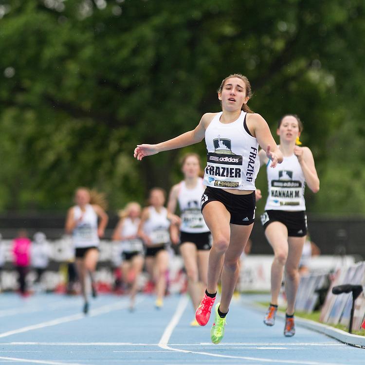 adidas Grand Prix professional track & field meet: high school girls Dream Mile, Wesley Frazier