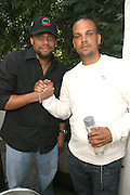 l to r: Michael Ely and Qunicy Jones III (QD3) at Lincoln Presents ' Off the Red Carpet ' at The 2008 American Black Film Festival at The Sofitel Hotel on August 9, 2008..' Off the Red Carpet ' celebrates the film careers of Hollywood insiders and soon to be released films by Black Filmmakers.