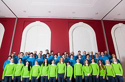 Team photo during presentation of Team Slovenia for Sochi 2014 Winter Olympic Games on January 22, 2014 in Grand Hotel Union, Ljubljana, Slovenia. Photo by Vid Ponikvar / Sportida