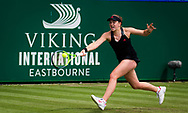 Jelena Ostapenko of Latvia in action against Ons Jabeur of Tunisia during the second round at the 2021 Viking International WTA 500 tennis tournament on June 23, 2021 at Devonshire Park Tennis in Eastbourne, England - Photo Rob Prange / Spain ProSportsImages / DPPI / ProSportsImages / DPPI