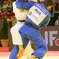Alan Khubetsov (front) of Russia and Kenya Kohara (back) of Japan fight during the Men -81 kg category at the Judo Grand Prix Budapest 2018 international judo tournament held in Budapest, Hungary on Aug. 11, 2018. ATTILA VOLGYI