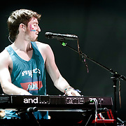 Nicholas Petricca of Walk the Moon opening for FUN on 6/27/13 at The Marcus Amphitheater during Summerfest in Milwaukee, Wi. Photo © 2013 Jennifer Rondinelli Reilly.  All RIghts Reserved. No use without permission. Contact me for any reuse or licensing inquiries.